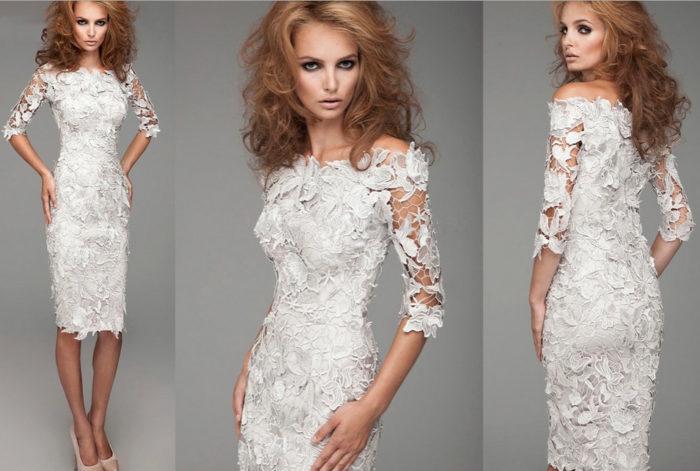 белые платья на выпускной фото 1