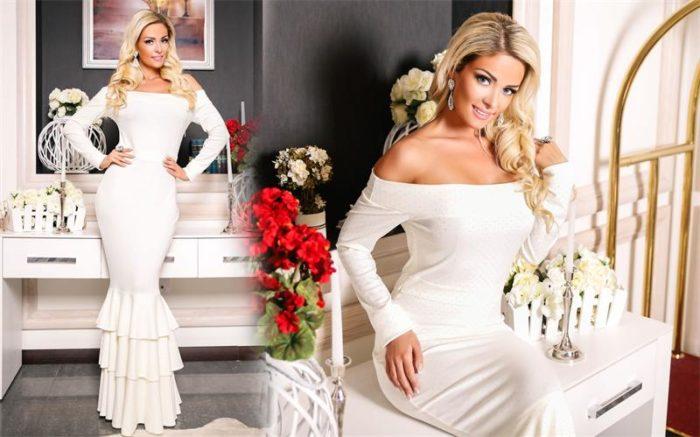 белые платья на выпускной фото 2