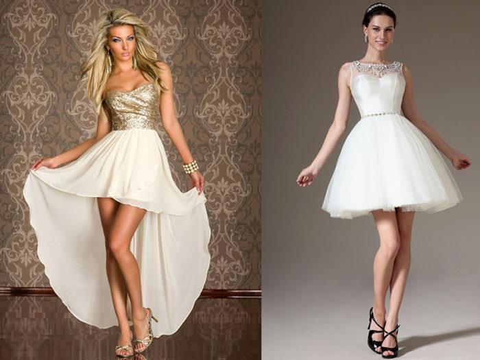 белые платья на выпускной фото 3