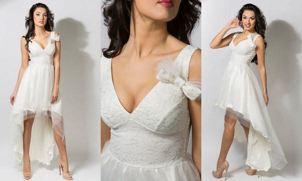 белые платья на выпускной фото 4