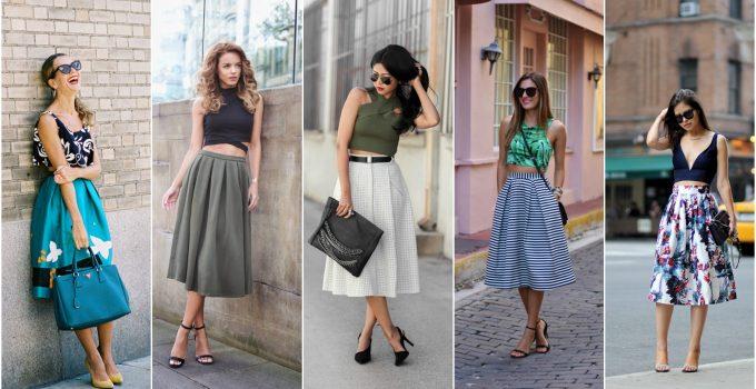 модные луки с летними юбками 2018 на фото 2