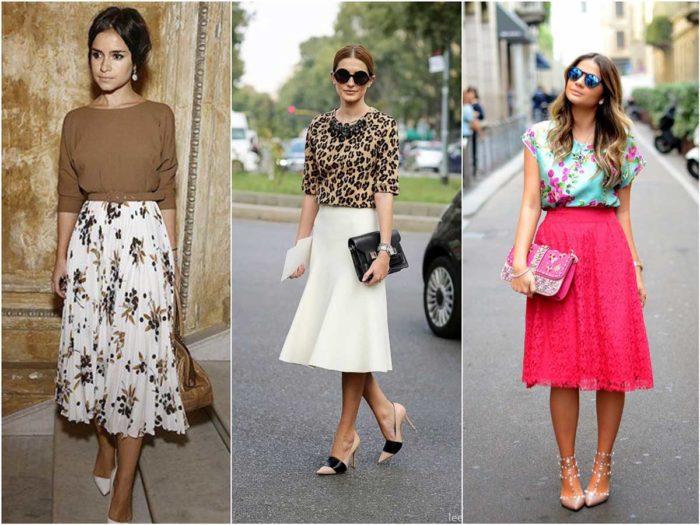 модные луки с летними юбками 2018 на фото 3