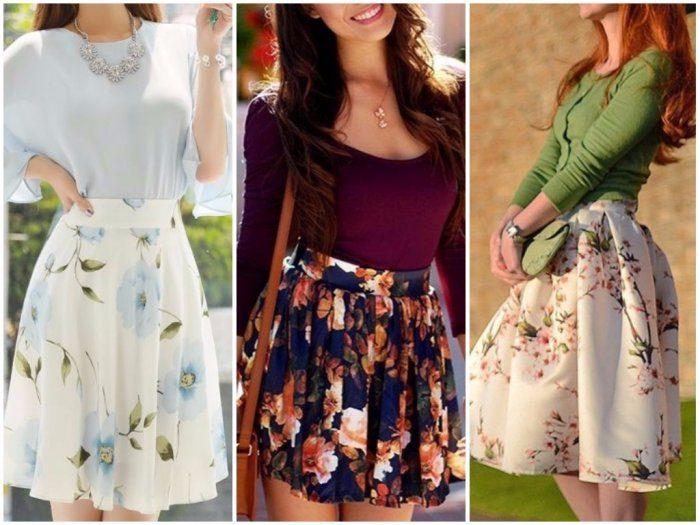 модные луки с летними юбками 2018 на фото 5