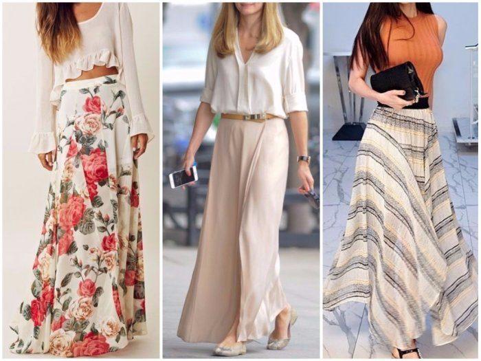 модные луки с летними юбками 2018 на фото 6