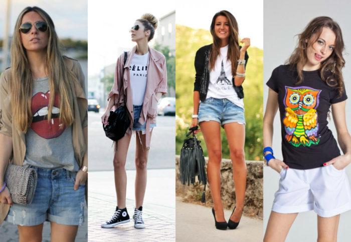 с чем носить модные летние шорты 2018 фото 10