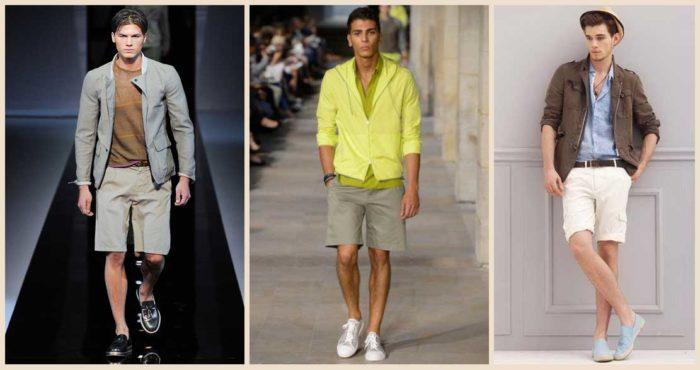 модные мужские шорты 2018, с чем носить. Летняя фото-подборка 1