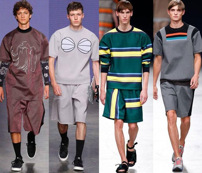 модные мужские шорты 2018, с чем носить. Летняя фото-подборка 2